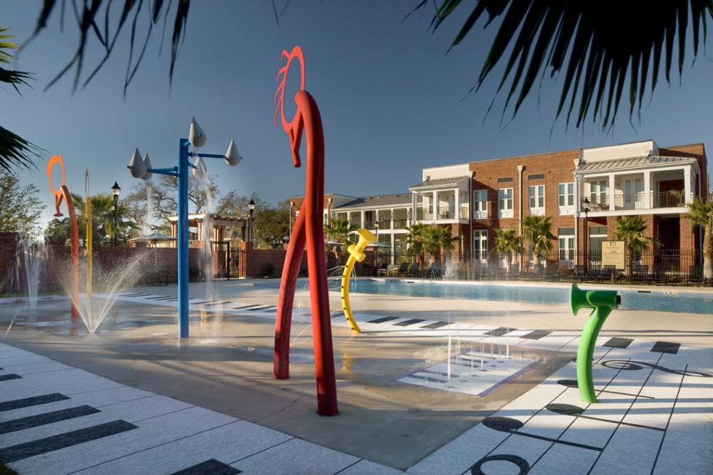 Columbia Parc's water play area