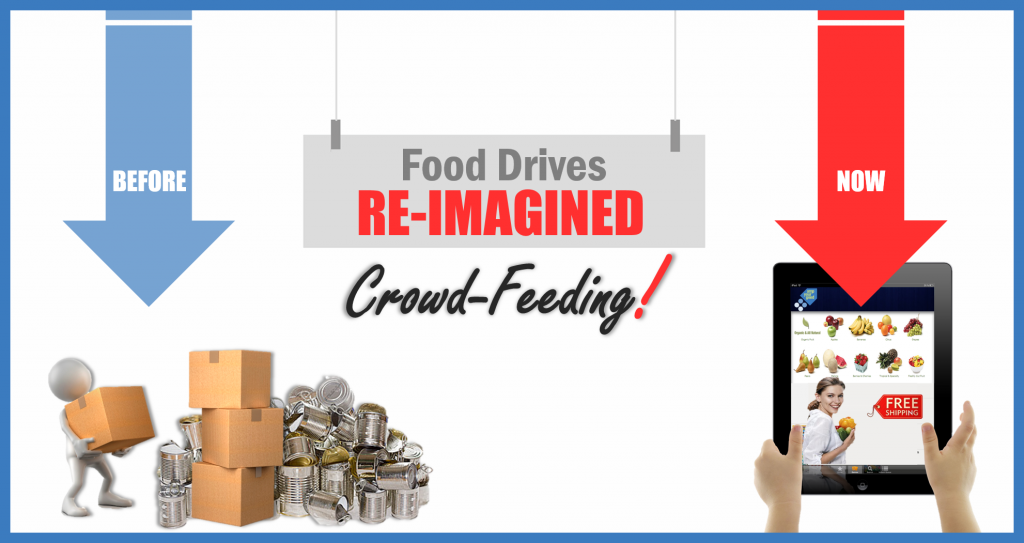 Food Drives Re-Imagined = Crowdfeeding