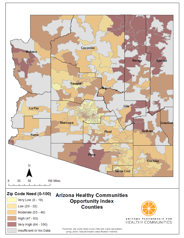 Map Of Tucson Arizona Zip Codes.Health Mapping Every Zip Code In Arizona Build Healthy Places Network