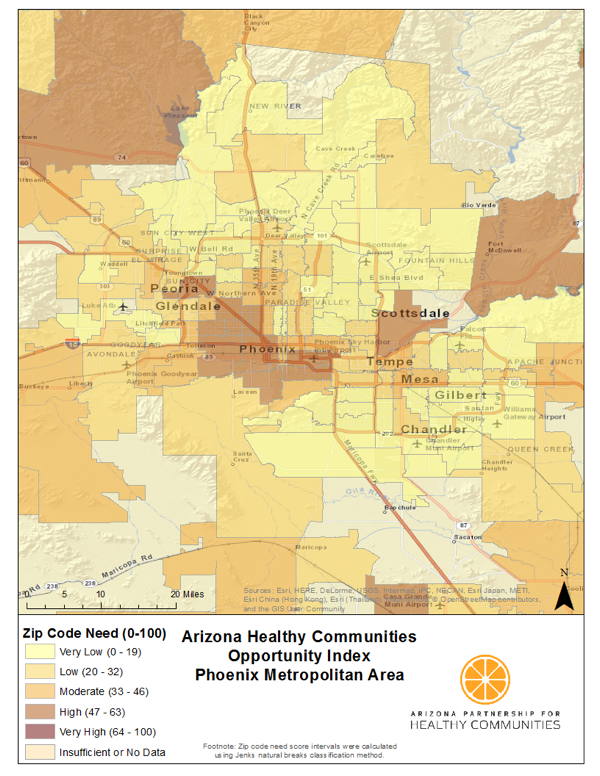 Health Mapping Every Zip Code In Arizona Build Healthy Places Network